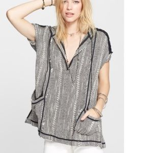 EUC Free People Oversized Hooded Tunic Top